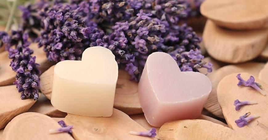 sapun u obliku srca od lavande