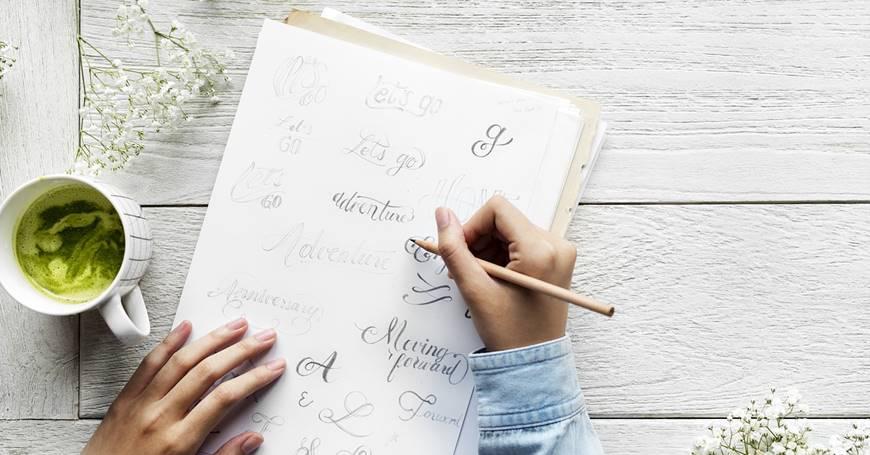 kaligrafsko pismo pisanje