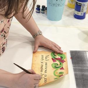 prakticno vezbanje kaligrafije na bah kursu kaligrafije