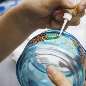 oslikavanje staklene teglice