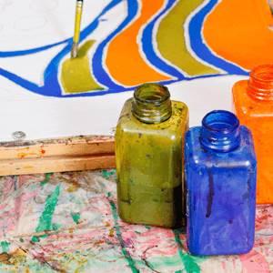 Slikanje na tekstilu kurs - bočice sa bojama