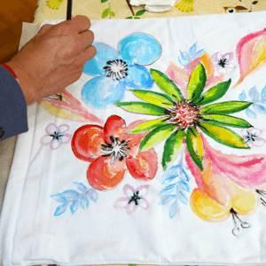 Slikanje na tekstilu kurs - cvetovi