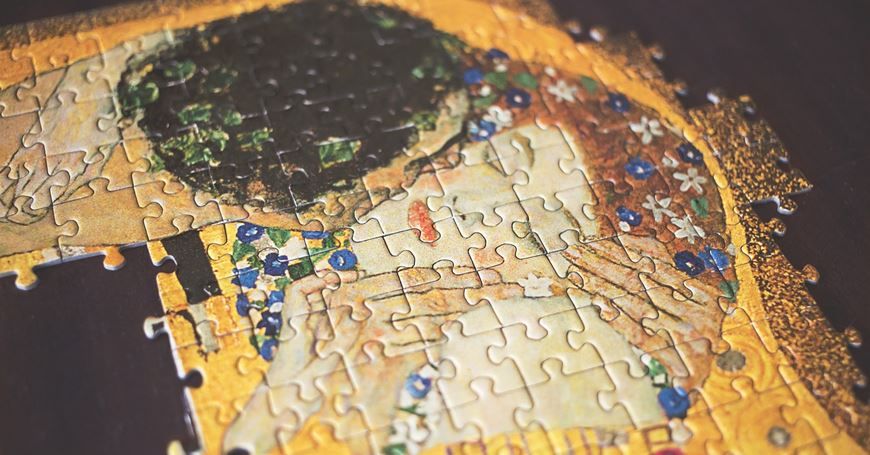 Gustav Klimt Poljubac - puzle