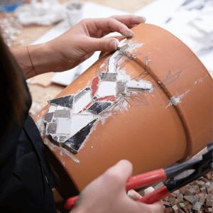 Mozaik na saksiji