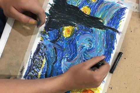 Slikanje na radionici - Van Gogh veče