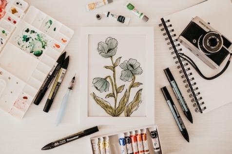 Umetnost akvarel botanika oslikavanja