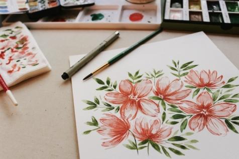 Cveće kao inspiracija za akvarel crtanje