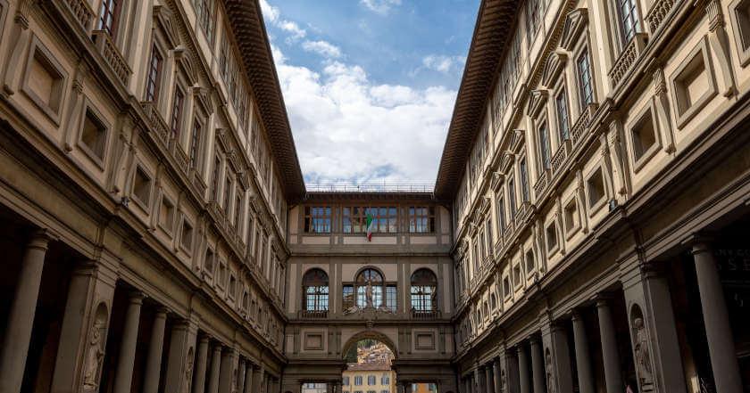 Spoljašnost muzeja Ufici u Firenci